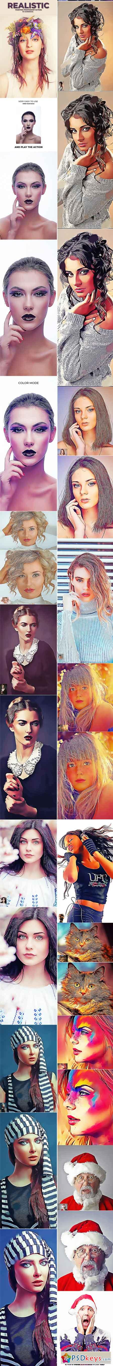 Realistic Painting Photoshop Action 22049785