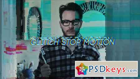 Glitch Stop Motion Graphics Template 21177651