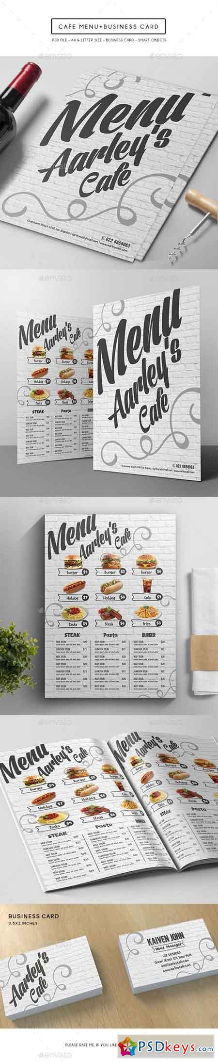 Cafe Menu + Business Card 15086419