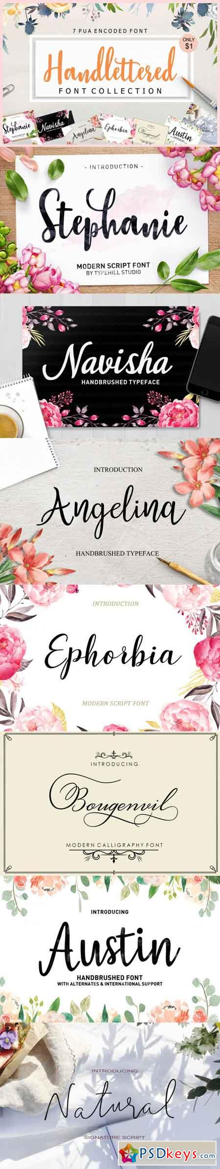 Handlettered Font Collection 3466621