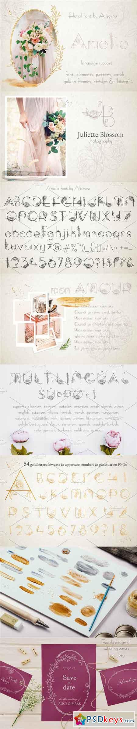 Amelie Floral Display Font 2680535