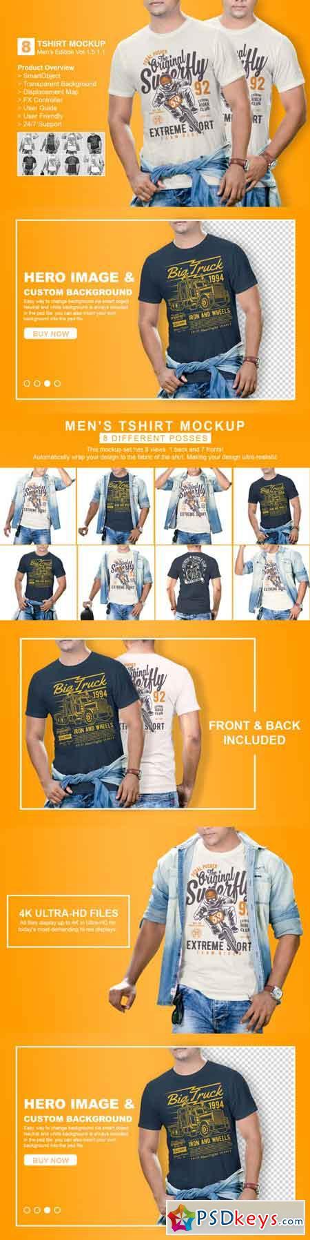 Mens Tshirt Mockup Vol 1.5.1.1 3466955
