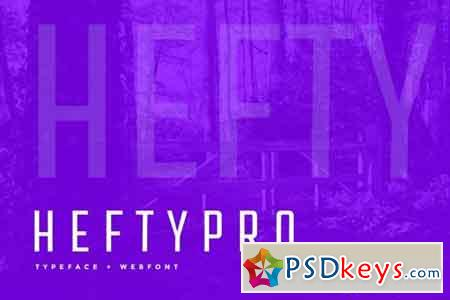 Hefty Pro Display Typeface + WebFont