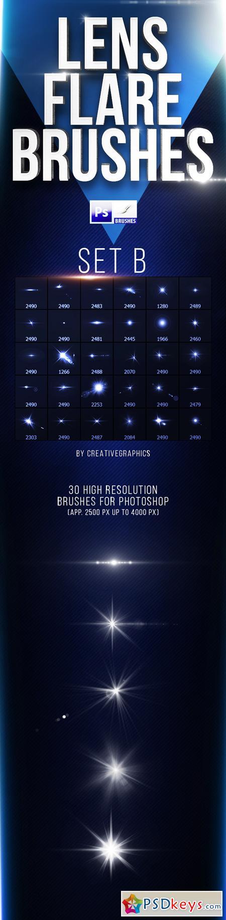 30 Lens Flare Brushes for Photoshop Set B 22163004