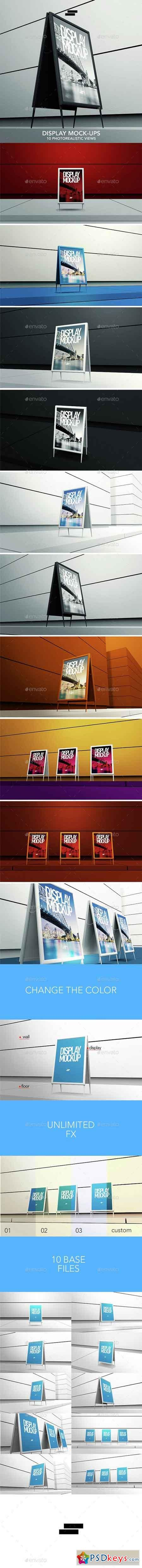3D Display Banner Outdoor Mock-ups 15128167