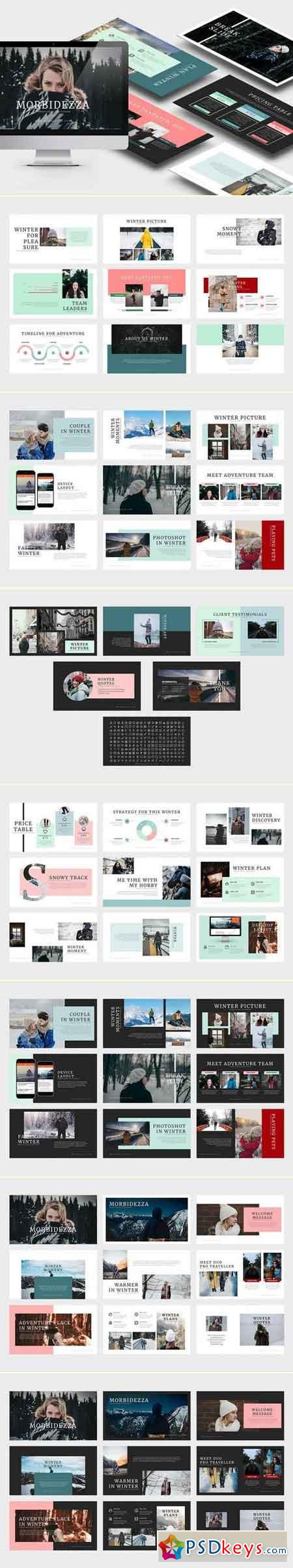 Morbidezza Winter Keynote Template