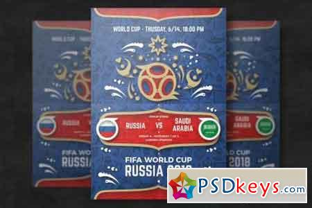 Football world cup flyer template 3