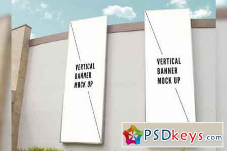 Vertical Banner Mock Up