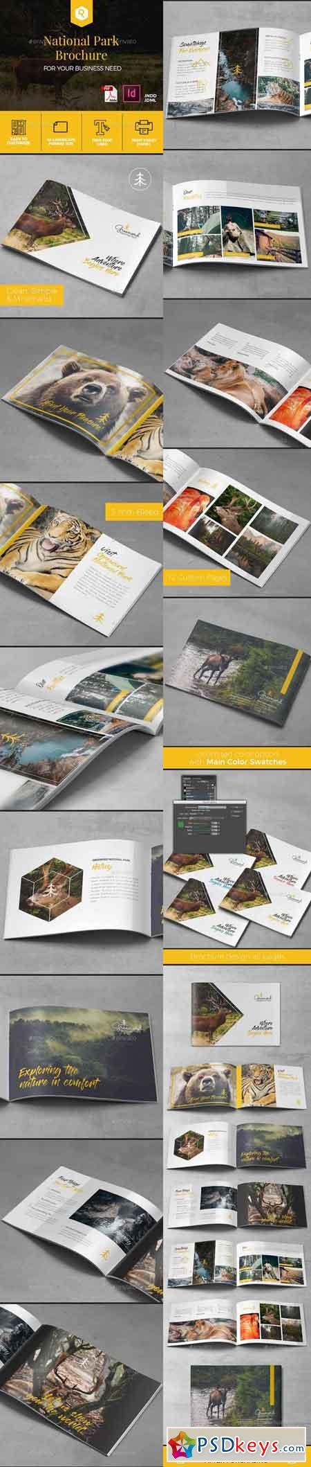 A5 National Park Brochure Template 19644284