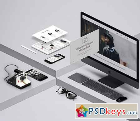 UI Isometric Psd Devices Pack Vol 5