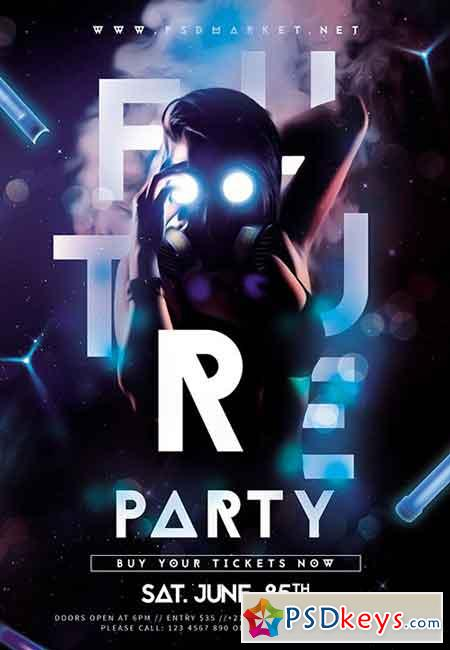 Future Party Flyer – PSD Template