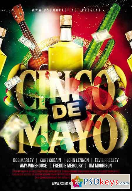 Cinco De Mayo Party Flyer – PSD Template