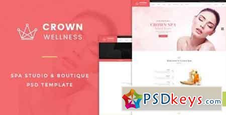 Crown Wellness Spa PSD Template 15162510