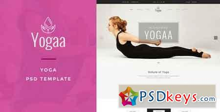 Yogaa – Wellness PSD Template - 15186624