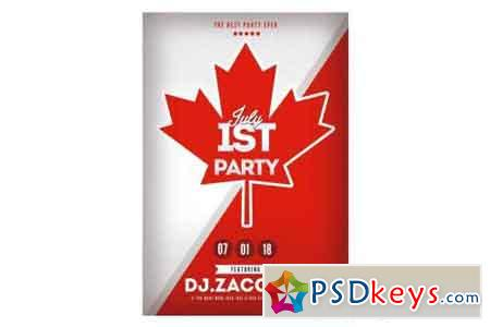 1st July Canada Day Flyer Poster