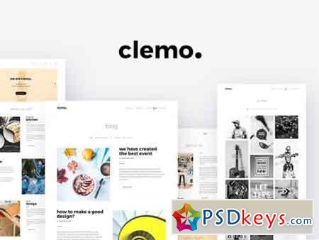 Clemo - Multipurpose PSD Template 1268650