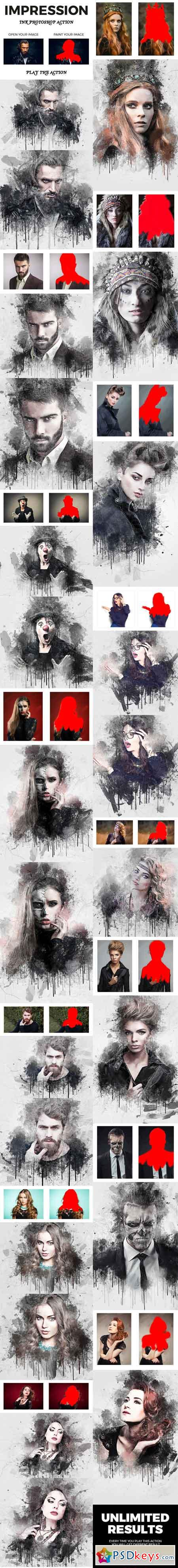 Impression Ink Photoshop Action 21285770