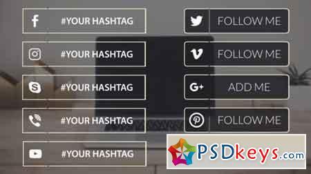 Pond5 - Social Media Lower Thirds - 077384843