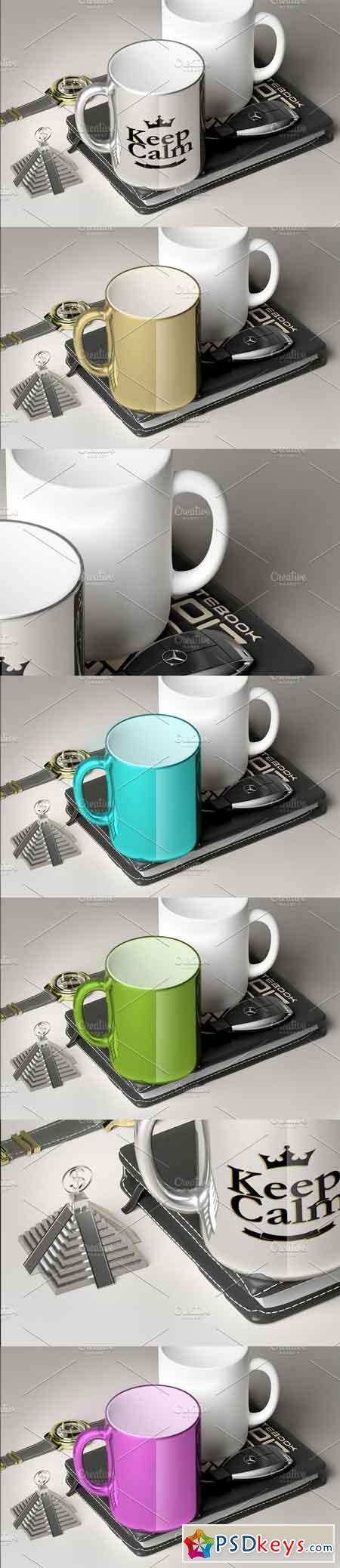Chromed Luxury Mug - Mockup 2724363