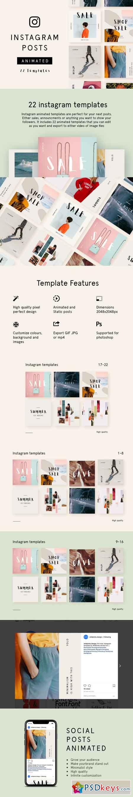 Animated Instagram Post Templates - Minimalist 3467827