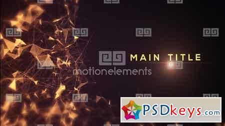 Golden Abstract Titles After Effect Template 9209823