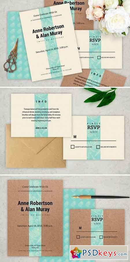 Simply Wedding Invitation 835099