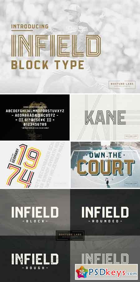 Infield Display Fonts 2543281