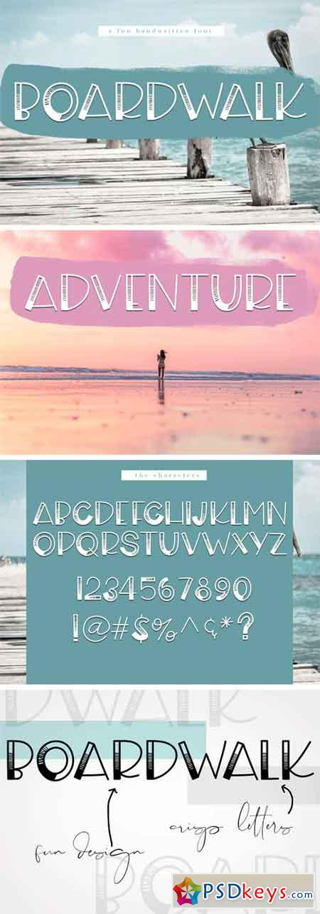 Boardwalk - A Fun Handwritten Font 94684