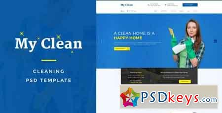 MyClean Cleaning Company PSD Template 15680916