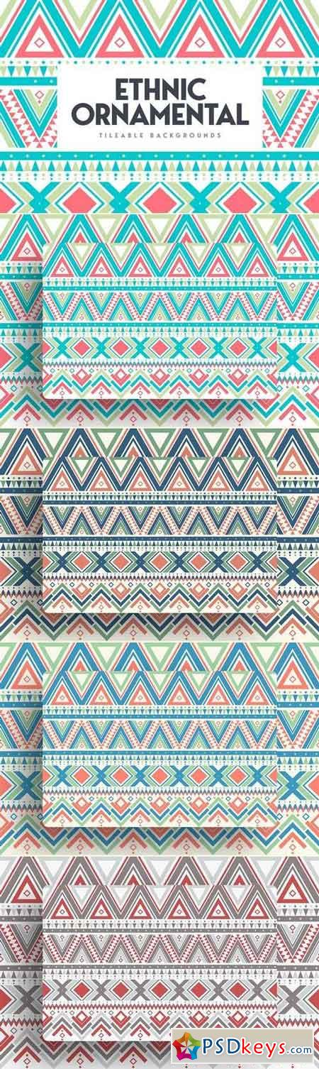 Ethnic Ornamental Tileable Backgrounds