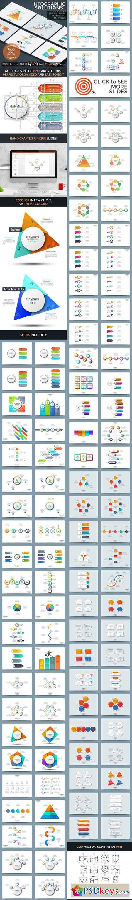 Infographic Solutions. Powerpoint Template 22087401
