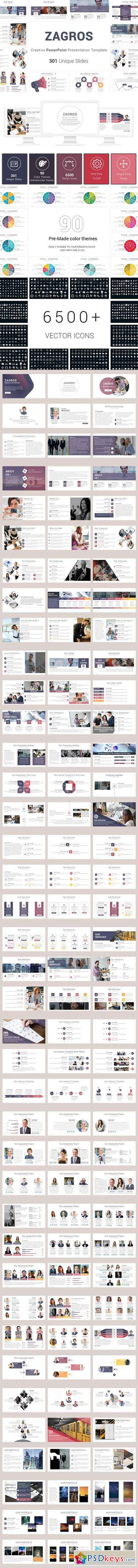 Zagros Business PowerPoint Template 2708721