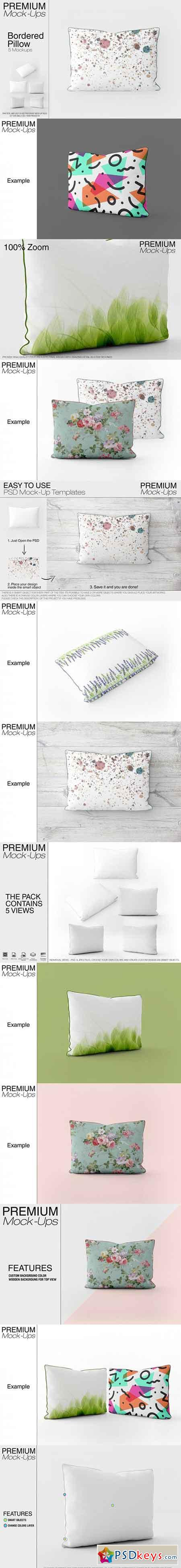 Bordered Pillow Mockup Pack 3451122