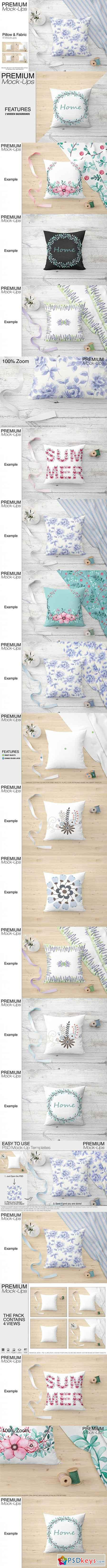 Pillow & Fabric Set 3450817
