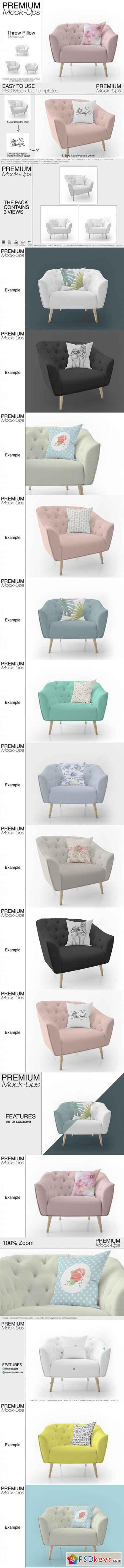 Throw Pillow Set Mockup 3450275