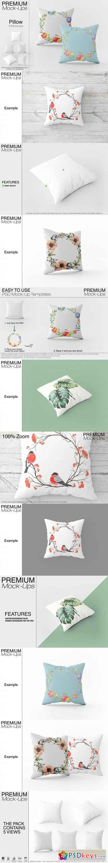 Square Pillow Mockup Pack 3451120