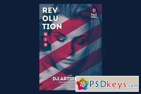 Revolution Music Flyer Poster