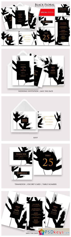 Black Floral - Invitation Ac.20 2740570