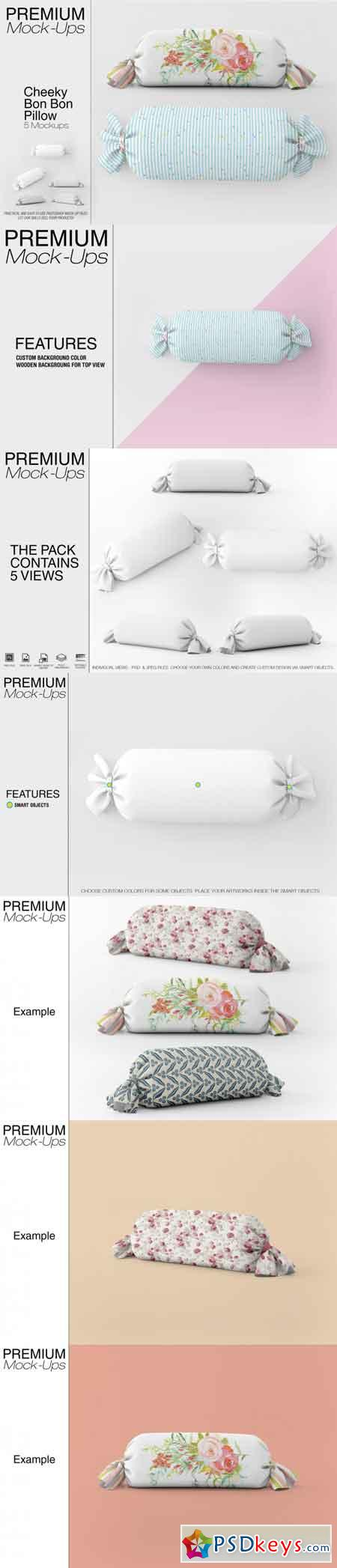 Cheeky Bon Bon Pillow Mockup Set 3451134