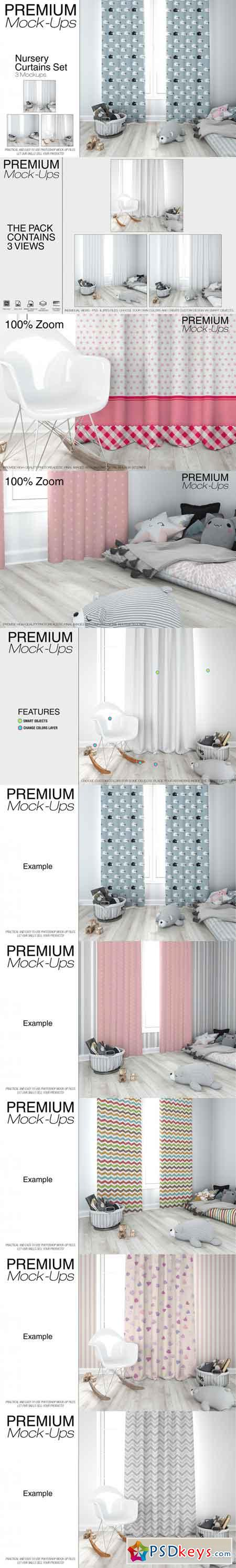 Kids Room - Curtains Mockup Pack 3468694