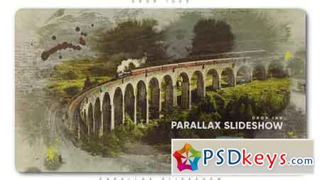 Drop Ink Parallax Slideshow After Effect Template 21461498