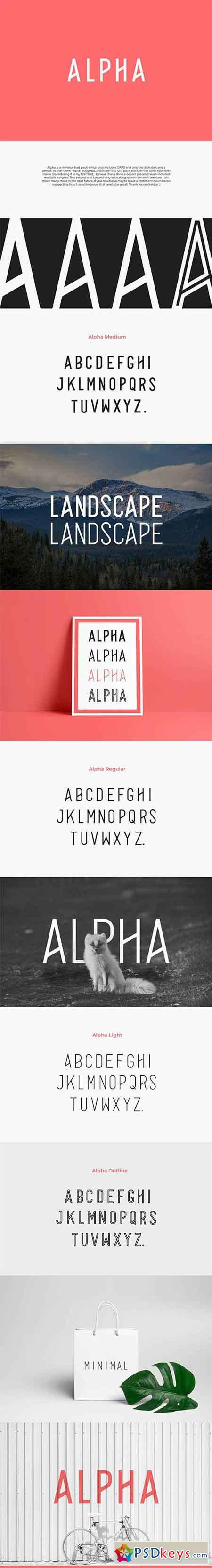 Alpha Font Family