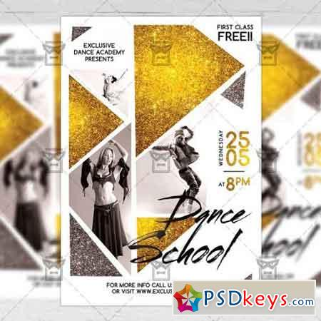 Dance School – Community A5 Flyer Template