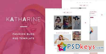 Katharine Fashio Blog PSD Template 14644954