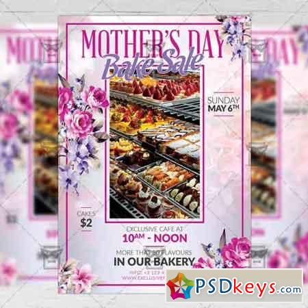 Mothers Day Bake Sale – Seasonal A5 Flyer Template