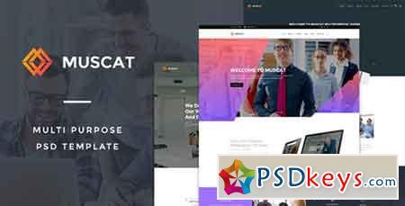 Muscat Multi-Color Multipurpose PSD Template 14512336