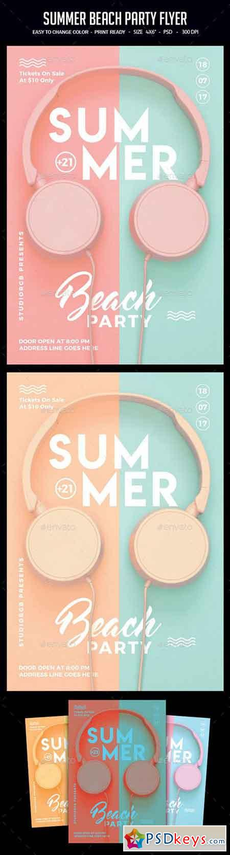 Summer Beach Party Flyer 22218525