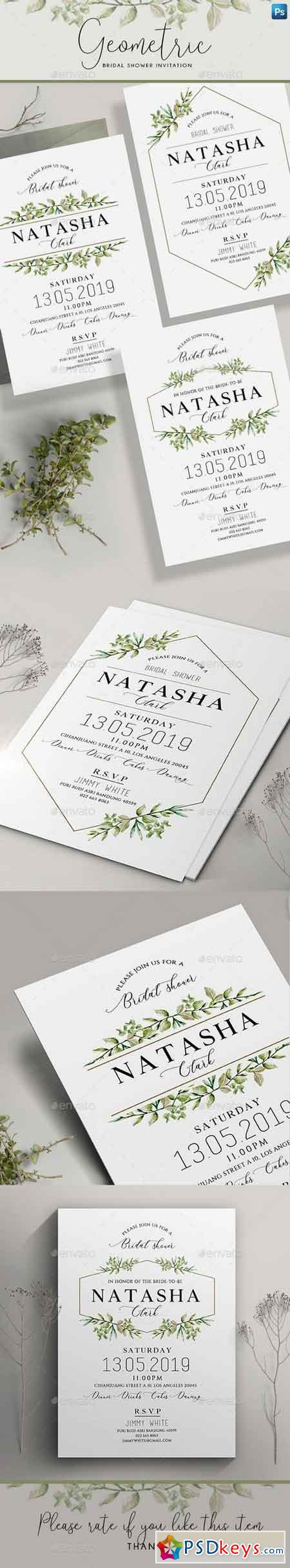 Geometric Bridal Shower Invitation 22264824