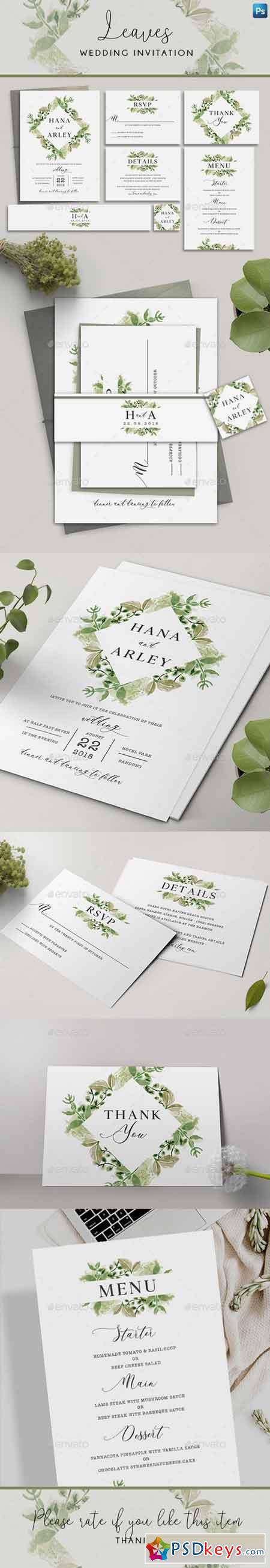 Leaves Wedding Invitation 22259944