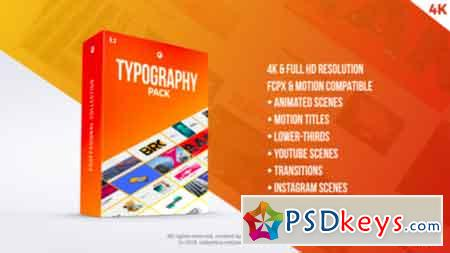 Typography Pack PRO FCPX and Apple Motion 21729093